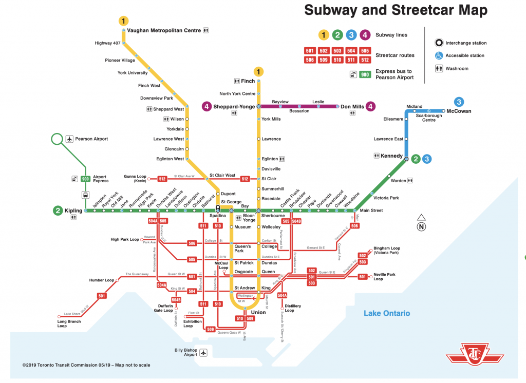 ttc subway map